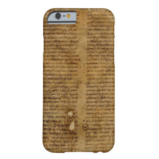 Parchment text with antique writing, old paper barely there iPhone 6 case