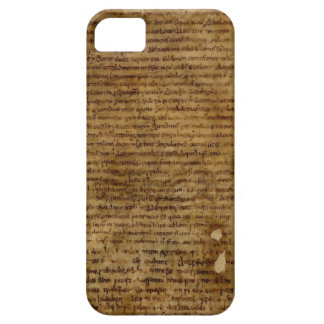 Parchment text with antique writing old paper iPhone 5 covers