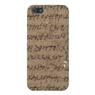 Parchment text with antique writing, old paper case for iPhone 5