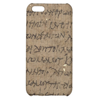 Parchment text with antique writing, old paper cover for iPhone 5C
