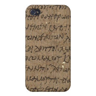 Parchment text with antique writing, old paper iPhone 4/4S cover