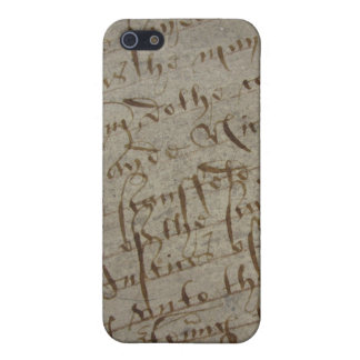 Parchment text with antique writing old paper case for iPhone 5