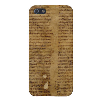 Parchment text with antique writing old paper covers for iPhone 5
