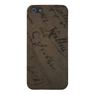 Parchment text with antique writing, old paper iPhone 5 cover