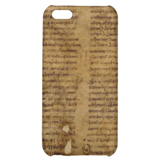 Parchment text with antique writing, old paper iPhone 5C cover