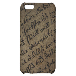 Parchment text with antique writing old paper iPhone 5C cover
