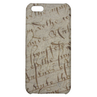Parchment text with antique writing, old paper iPhone 5C cases