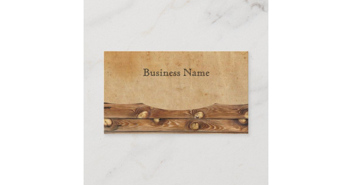 Parchment Wood Rustic Country Business Cards | Zazzle.com