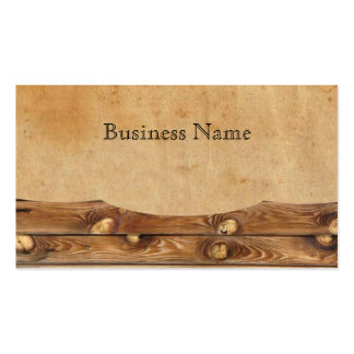 Parchment Wood Rustic Country Business Cards