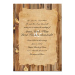 Parchment Wood Rustic Country Wedding Invitation