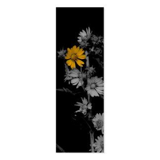 Parcialmente señales florales de Colorized mini Plantilla De Tarjeta De Negocio