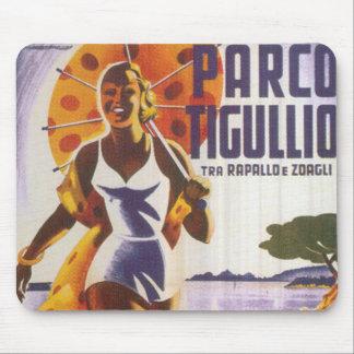 Parco Tgullio Vintage Travel Poster Mousepad