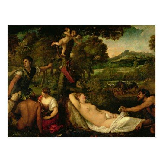 Pardo Venus or Jupiter and Antiope Postcard