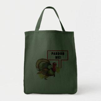Pardon Me Funny Turkey Day Design Bags