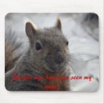 Pardon me, have you seen my nuts? mouse pad