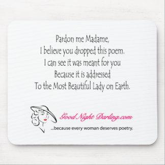 Pardon Me Madame_Dark Text Mouse Pad