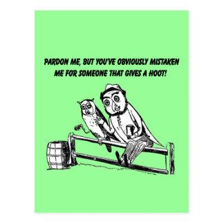 Pardon Me - Sarcastic Humor Postcard