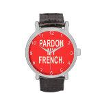 Pardon mi francés reloj de mano