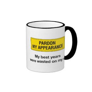 Pardon My Appearance Ringer Coffee Mug