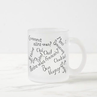 Pardon My French ~ Frosted Glass Mug