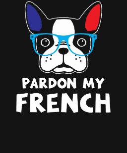 de0103093 Pardon My French Funny French Bulldog Baby Bodysuit