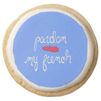 Pardon My French Round Shortbread Cookie