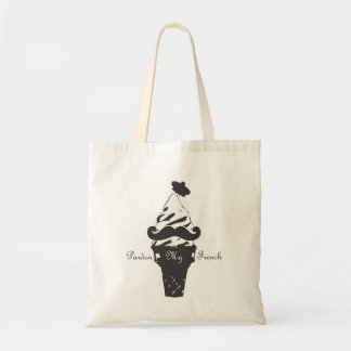 Pardon my french tote tote bag