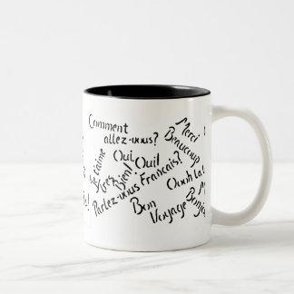 Pardon My French ~ Two-Tone Coffee Mug