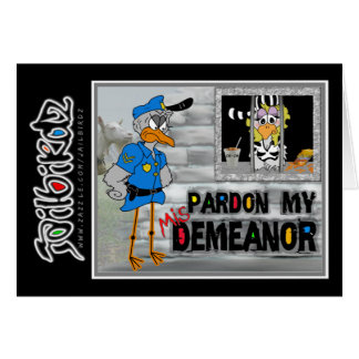 Pardon my (mis)demeanor: Jailbird card