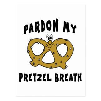Pardon My Pretzel Breath Gift Postcard