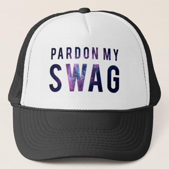 ae4956d71f0 Pardon My Swag Snapback Trucker Hat
