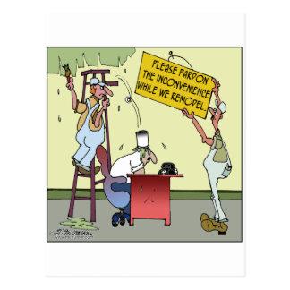 Pardon The Inconvenience Postcard