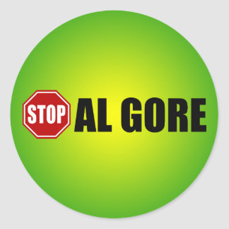 Pare a Al Gore Pegatina Redonda
