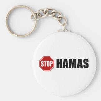 Pare a Hamás Llavero Redondo Tipo Pin