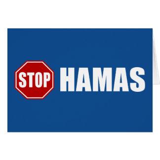 Pare a Hamás Tarjeta De Felicitación