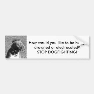 Pare a la pegatina para el parachoques de Dogfight Pegatina Para Auto