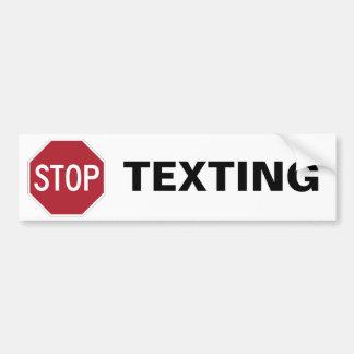 Pare a la pegatina para el parachoques de Texting Pegatina Para Auto