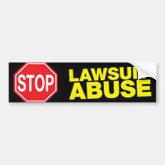 Pare a la pegatina para el parachoques del abuso d etiqueta de parachoque