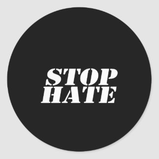 Pare a la pegatina para el parachoques del odio