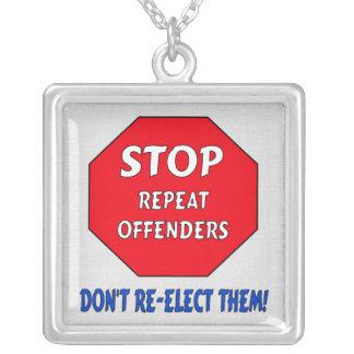 Pare a los delincuentes de la repetición colgante cuadrado