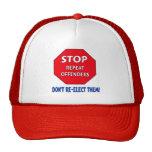 Pare a los delincuentes de la repetición gorras