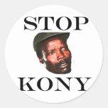 PARE a los pegatinas de KONY 2012 Pegatina Redonda