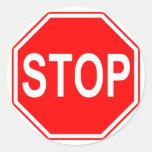Pare a los pegatinas de la muestra pegatinas redondas