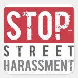 Pare a los pegatinas del acoso de la calle - peque colcomania cuadrada