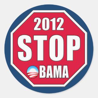 Pare a Obama 2012 Pegatina Redonda