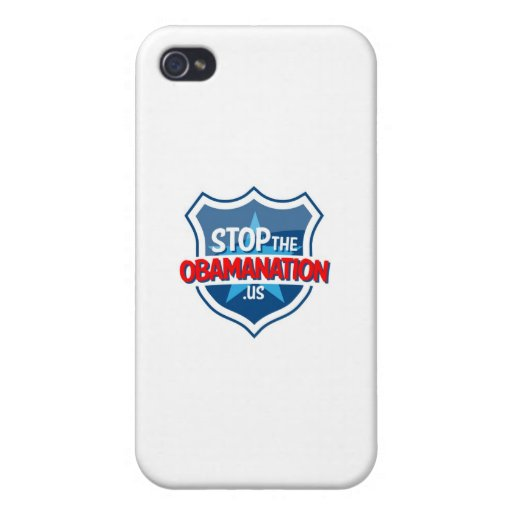 Pare a Obama iPhone 4 Protectores