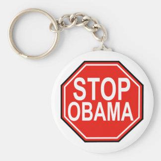 Pare a Obama Llavero Redondo Tipo Pin