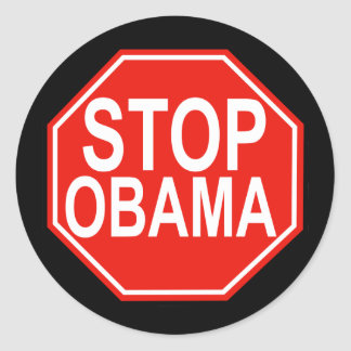 Pare a Obama Pegatina Redonda
