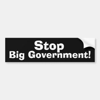 Pare al gobierno grande pegatina de parachoque