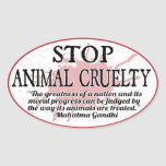 Pare al pegatina animal de la crueldad